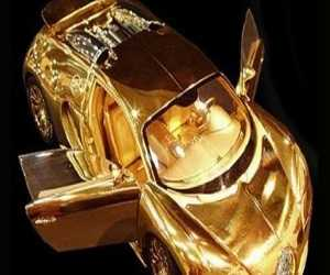 Replika Bugatti Veyron terbuat dari emas 24K