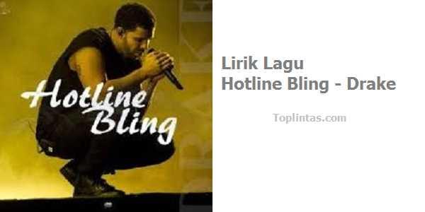 Lirik Lagu Hotline Bling