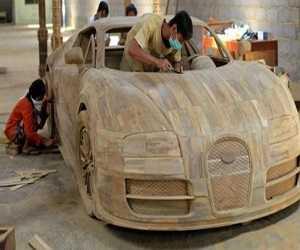 Replika Bugatti Veyron Terbuat dari Kayu