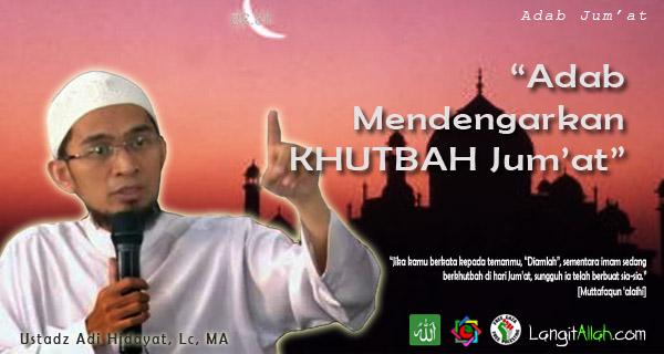at ialah hari istimewa bagi ummat islam Inilah Adab Mendengar Khutbah Jum'at