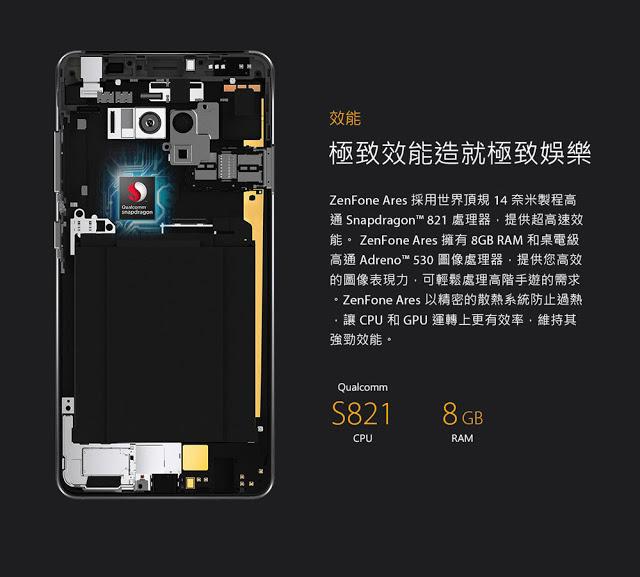 Salah satu pabrikan teknologi kondang asal Taiwan Asus ZenFone Ares Resmi Hadir dengan RAM 8 GB