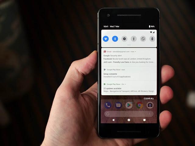 banyak dipakai oleh smartphone bermacam-macam merek di dunia sehingga pangsa pasarnya lebih be Beberapa Fitur Baru di Android P