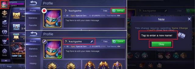 nama ID mungkin sanggup mengatakan gambaran bagaimana kemampuan bermain yang dimilikinya Cara mengganti Nama ID Mobile Legends