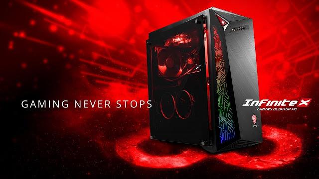 MSI mengumumkan kehadiran sebuah lini komputer desktop gaming gres ialah  MSI Infinite X Desktop Gaming Coffee Lake